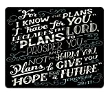 Bible Quote Mouse Pad, Jeremiah 29:11 for i...