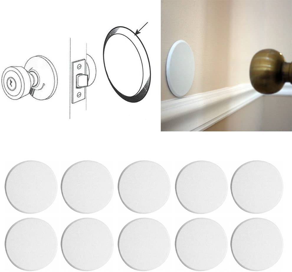 10X Round Inventory Regular dealer cleanup selling sale Self Adhesive Paintable Door Shiel Knob Protector Wall