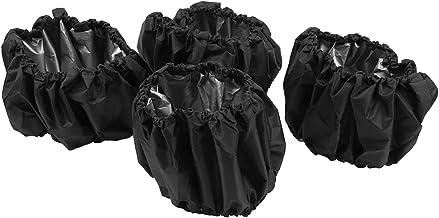 Funda de rueda para cochecito Funda de rueda de cochecito práctica Funda de rueda de cochecito de bebé resistente(Black 4-piece set, Large (single pack))