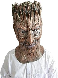 Monbedos Masque humain en latex pour Halloween, cosplay, fête, déguisement
