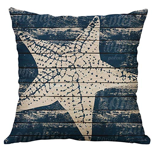 Gaoqi Pillow Case, Marine Life Coral Sea Turtle Seahorse Whale Octopus Cushion Cover Pillow Cover