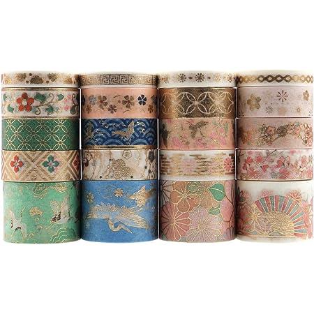 Lychii Washi Tape Set, 20 Rouleaux Ruban Adhésif Décoratif Masking Tapes pour Arts, Bullet Journal, Scrapbooking, Bricolage, Emballage