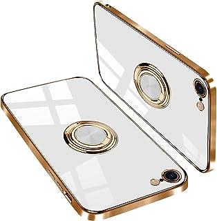 iPhone se ケース iPhone 7 ケース iPhone 8 ケース リング付き TPU 薄型 軽量 アイフォンse /7/ 8 ケース メラ保護 落下防止 携帯カバー スタンド機能ア 車載ホルダー対応(iPhoneseケース iPh...