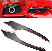 GZXinWei Car Styling Black Carbon Fiber Front Head Fog Light Lamp Eyebrow Bumper Eyelid