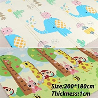 Q Baby Play Mat, 200 * 180 * 1cm Play Mat Baby, Baby Educational Cushion Play Mat For Baby for Bedroom Living Room Games R...