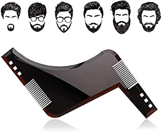 YOMYM The Beard Black Beard Shaping & Styling Tool with inbuilt Comb for Perfect line up & Edging, use with a Beard Trimme...