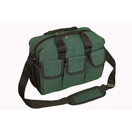 PAHAL Canvas Green Tool BagTools Bag ElectricianTechnicianService Engineer MechanicPlumberCarpenterAc Mechanic Heavy duty (16 Pockets)