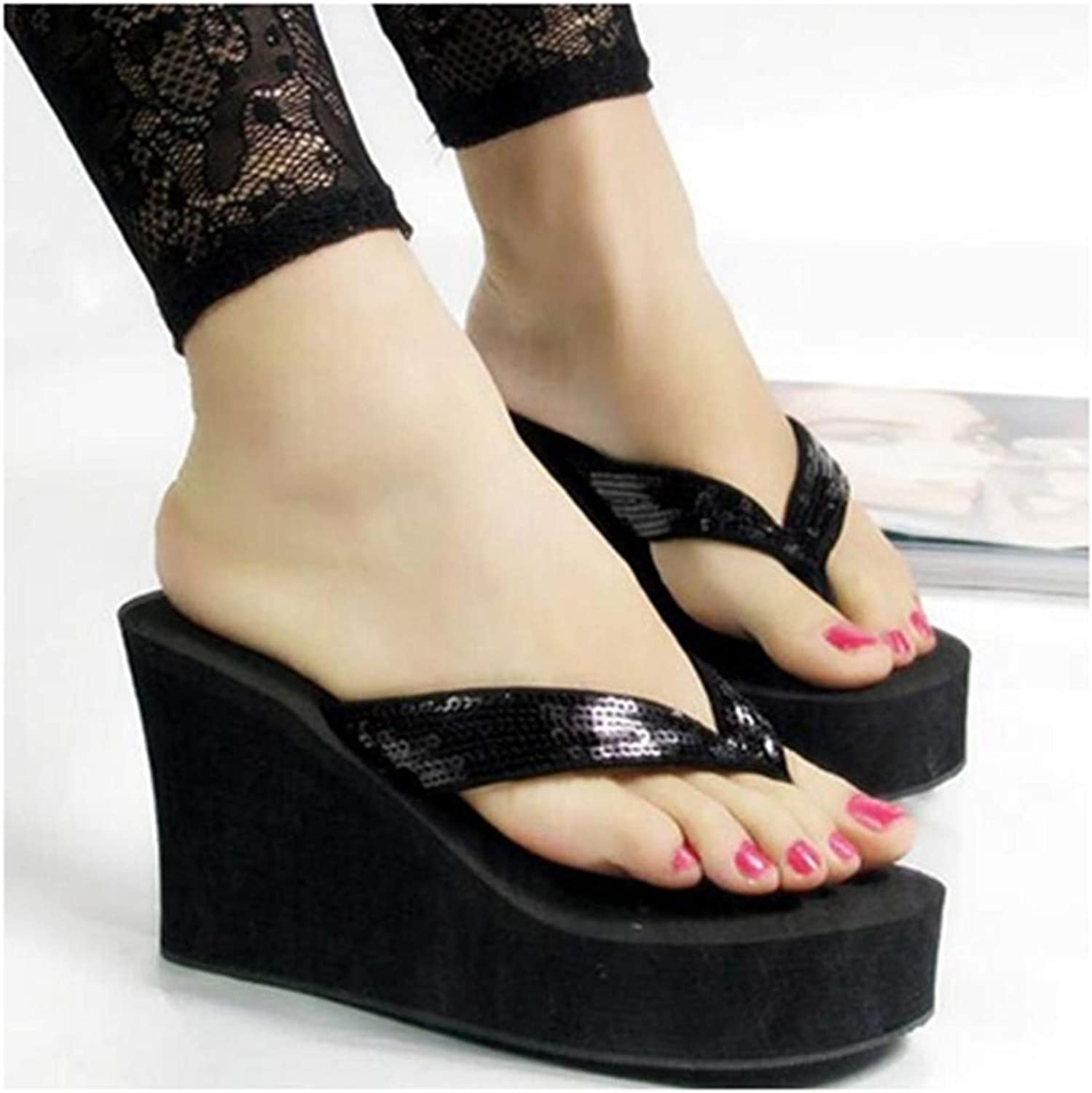 Women's Super high Heel Sandals with Platform Wedges Ladies shoes Fashion Bling