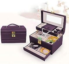 MU Boîte de Rangement Portable de ménage boîte à Bijoux en Bois Massif Multicouche/Bijoux Coiffe Finition boîte/boîte à Bi...