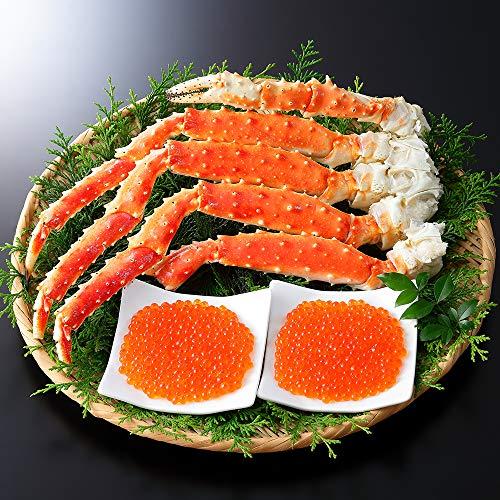 蟹 ハサミ タラバガニ 足 800g いくら 醤油漬け 80g×2個 北海道 カニ 北国からの贈り物