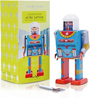 Sinihan Tin Wind Up Toys, Vintage Robot Toy, Collectible Robots for Kids Party Favors, Astro Captain