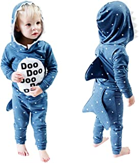 Infant Toddler Tops MS-SM Baby Boys Girls Cartoon Animals Stereo shark Hooded Long Sleeve Sweatshirt Coat Outfits 1Pc for ...