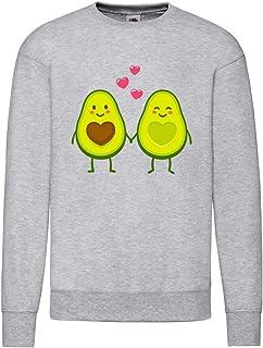 Sudadera – Avocado Cartoon Amor San Valentín – Sudadera unisex para niños – Niño y niña