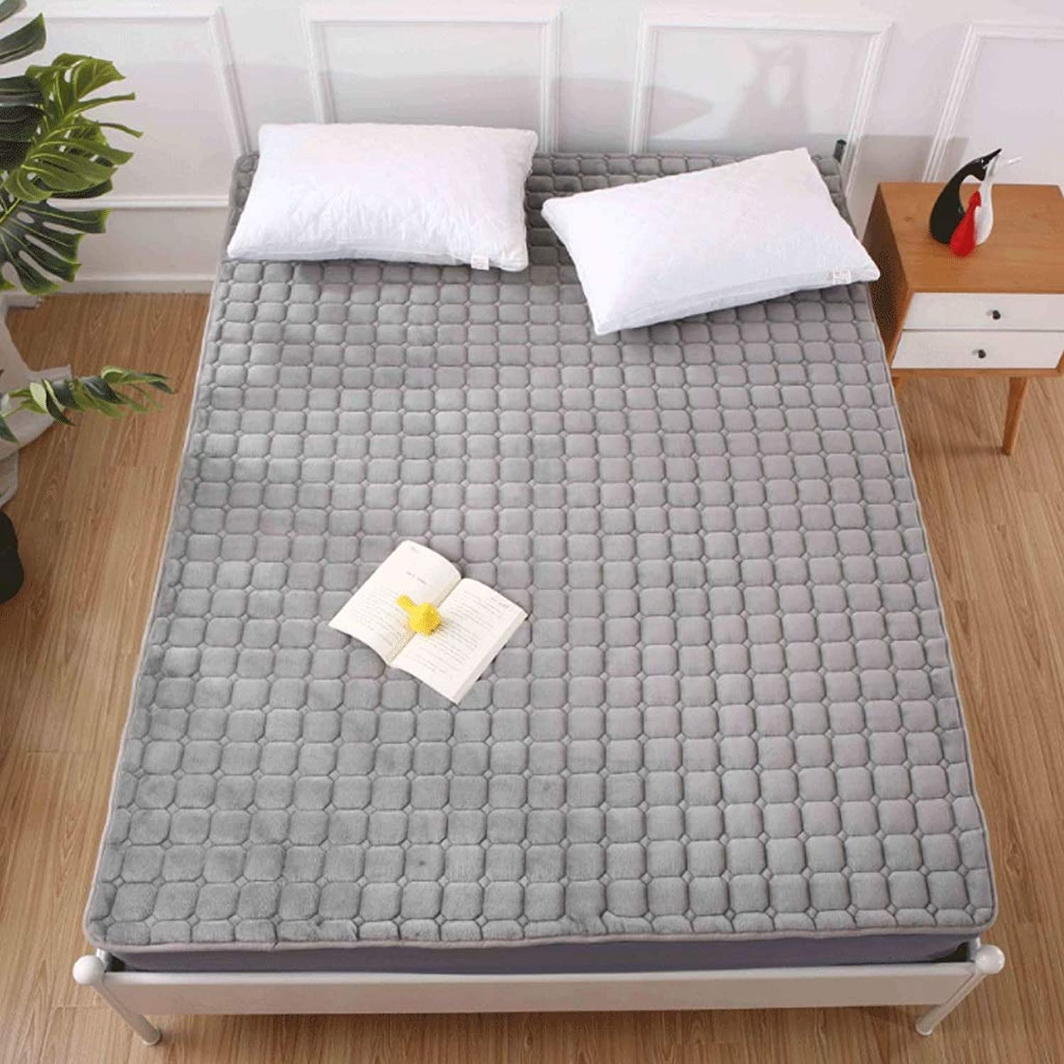 Autumn and Winter Seasons Thick Tatami Mattress Folding Washable Mat +A (color   7, Size   90x200cm)