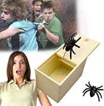 Spider Prank Scare Box Handcrafted spider Surprise Box,Handmade Fun Joke Scarebox Toy,Practical Gift Toy Spider Box Prankoy Prank for Kids Adults Halloween April Fool's Day Toys Spider