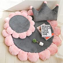 Modern Princess Style Area Rugs Round Floormat Thicken Non-Slip Chair Pad Barstool Cushions, Seat Cushion with 3 Extra Pil...