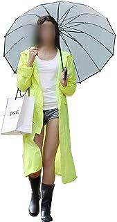 Who-care Impermeabile Donna/Uomini Impermeabile Trench Cappotto Poncho Monostrato Pioggia Donne Rainwear Poncho