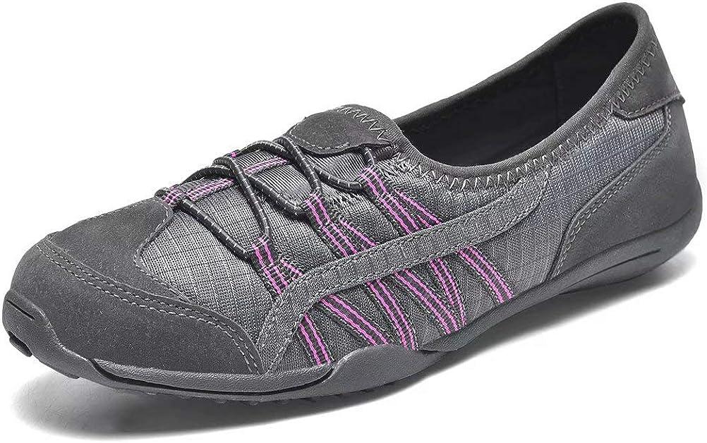 konhill Women's Breathe Sport Shoes - Walking Slip on Fashion Sn