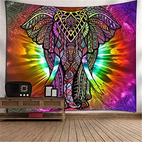 Wandteppich mit Elefanten-Motiv, Digitaldruck, Polyester, M, 60*51IN