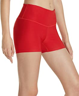 Workout Running 4 Way Stretch Athletic Non See-Through Yoga Shorts with Pockets