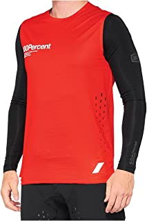 100% MTB-Jersey mouwloos R-Core Concept rood