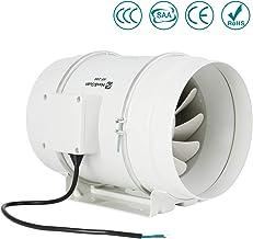 Ventilador de escape, HG Power 200mm Ventilador Extractor de Aire en Línea con Motor de Dos-velocidades para Oficina , Hotel , Baño - 840m³/h Ventilación(200mm)