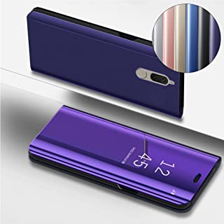 [Huawei Mate 10 Lite] Case, COTDINFORCA Mirror Design Clear View Flip Bookstyle Luxury Protecter Shell With Kickstand Case Cover for Huawei Mate 10 Lite - 5.9 inch. Flip Mirror: Purple