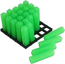 Ankerpunt 500 stks Plastic Expansie Pijp Groen M6 M8 Muurstekker Rubber Anchor Self Tapping Schroef Uitbreidingspijp Makke...