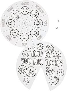 Color Your Own Emoji Mood Spinner Wheels 1 doz