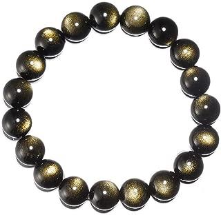 Sinymilk Gold Sheen Obsidian Bracelet Talisman Bead Divine Masculine Within