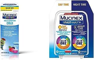 Cough Suppresent, Chest Congestion and Stuffy Nose Relief, Mucinex Children's Multi-Symptom Cold Liquid, 6.8 Fl Oz and Muc...