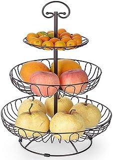 AOIWE Assiette de Fruits Creative Fruit Basket Accueil Trois Couches de gâteau Stand Stockage Fruits et légumes en Rack Po...