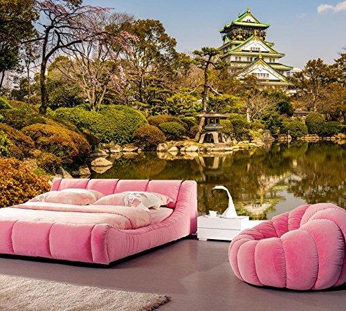 Yosot El Parque Del Castillo De Osaka Árboles Foto De Naturaleza Papel Tapiz Salón Tv Sofá Habitación Restaurante Pared Wall 3D Photo Papel Pintados-350Cmx245Cm
