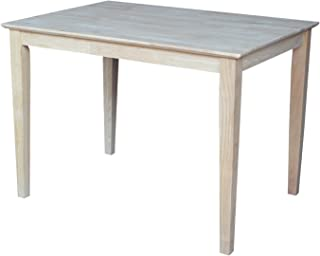 International Concepts Solid Wood Top Table with Shaker Legs, Standard Height