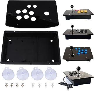 Panel de acrílico negro y estuche DIY Juego de reemplazo de kits para Arcade Game