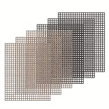 "Kingrol 6 Pack Non-Stick BBQ Grill Mesh Mat, 15.75"" x13"" for Smoker, Pellet, Gas, Charcoal Grill"