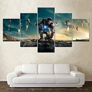 QQYYYT 5 pieces of canvas print painting modern living room wall decoration art picture abstract mural poster decoration g...