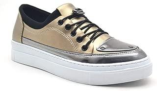 Altın Rengi Yüksek Taban Spor Günlük Kadın Ayakkabı