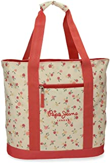 Pepe Jeans Joseline Sac à main Shopping Multicolore 44x36x14 cms Polyester