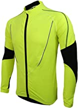 Small Oranges Winter Men's Cycling Jacket with Reflective Stripe Warm Thermal Fleece Running Cycling Jersey