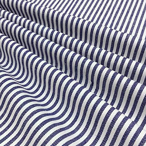 QDTD 100% Algodón Tela Vaquera 1m por Metro Utilizada para Coser Ropa, Jeans Populares, 150 cm De Ancho Coser Cojines, Cortinas Y Accesorios para El Hogar(Color:Azul)