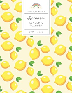 Monthly & Weekly Rainbow Academic Planner 2019 - 2020: Summer Lemons - Student / Business Agenda from August 2019 to September 2020 (14 months) with ... School / Business TO-DOs (Sunday start week)