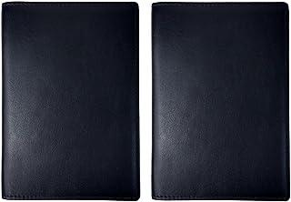 2 peças de couro genuíno para passaporte, carteira com bloqueio de RFID, carteira de identidade, capa de crédito, acessóri...