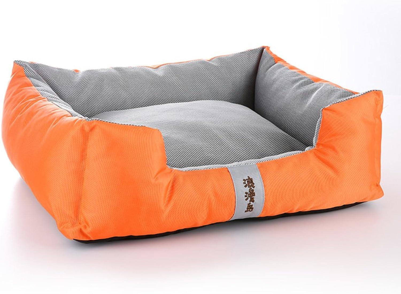 DSAQAO Medium oxford frabric dog bed pillow nest mat, Detachable Washable Square Large Pet basketA M 68x58x20cm(27x23x8inch)