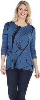 Jess & Jane Women's Matilda Slinky Knit Side Slit Tunic Top