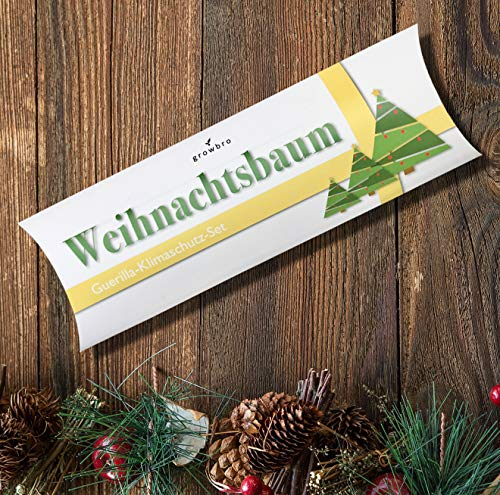 Wichtelgeschenk, Weihnachtsbaum, growbro - Guerilla-Klimaschutz-Set, Weihnachtsgeschenk, Geschenk für Frauen & Männer, Tannenbaum