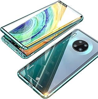 جراب هاتف Huawei Mate 30 Pro، من EUDTH مزود بإطار معدني ممتص مغناطيسي كامل للجسم قابل للطي 9H زجاج مقسى [أمامي وخلفي] غطاء...