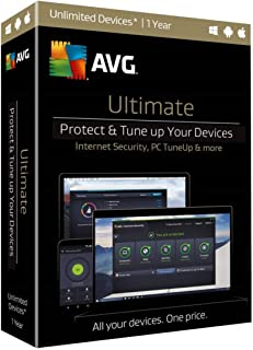AVG Ultimate Latest (AntiVirus + Internet Security + Tune Up + VPN + More Tools)   For 10 Devices   For 1 Year   Retail Li...