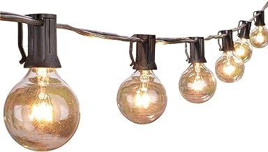 Outdoor String Light 50Feet G40 Globe Patio Lights with 52 Edison Glass Bulbs(2 Spare),..