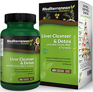 Sponsored Ad - Liver Cleanse and Detox with Milk Thistle, NAC & Turmeric - Supports Immunity& Healthy Liver Function & Inc...
